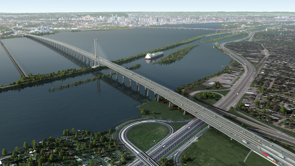The most important infrastructure project in North America: In Montreal, we are building the Champlain Bridge across the Saint Lawrence River.
