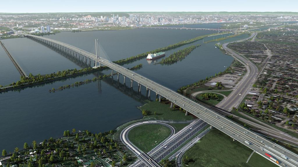 Das bedeutendste Infrastrukturprojekt in Nordamerika: In Montreal bauen wir die Champlain Bridge über den St.-Lawrence-Strom.