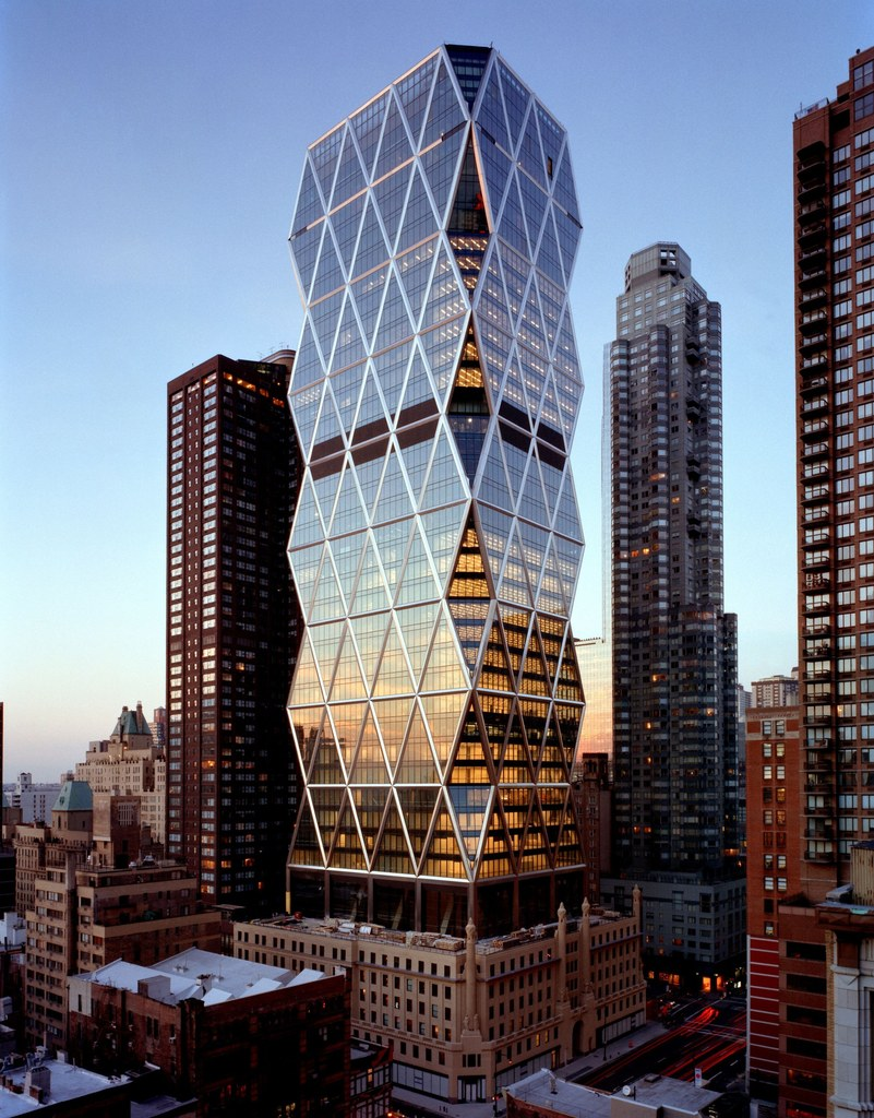 Hearst Tower, New York, USA: die stählerne Waffel