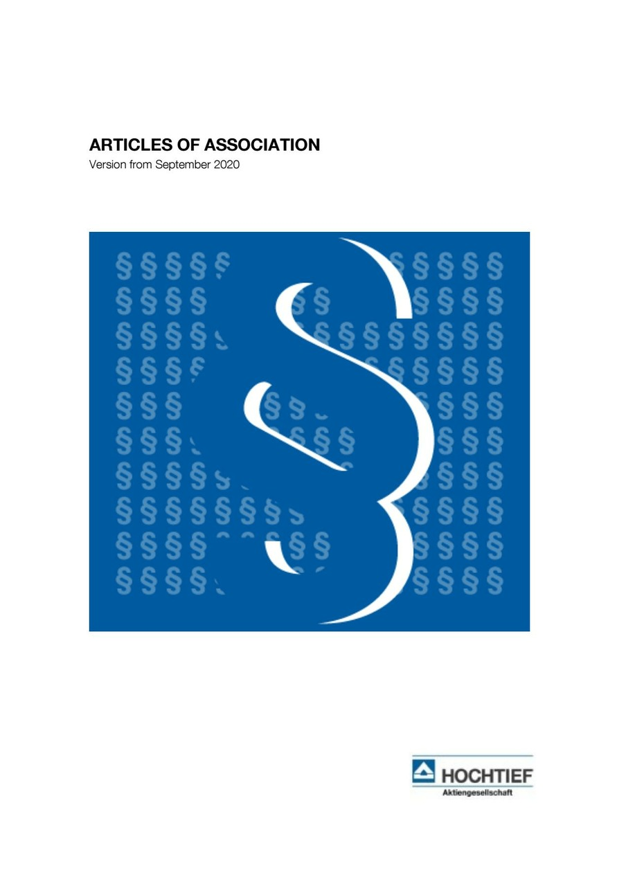 Articles of Association 2020