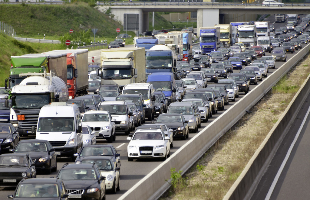 At many places the highway network is groaning under the daily burden of trucks.