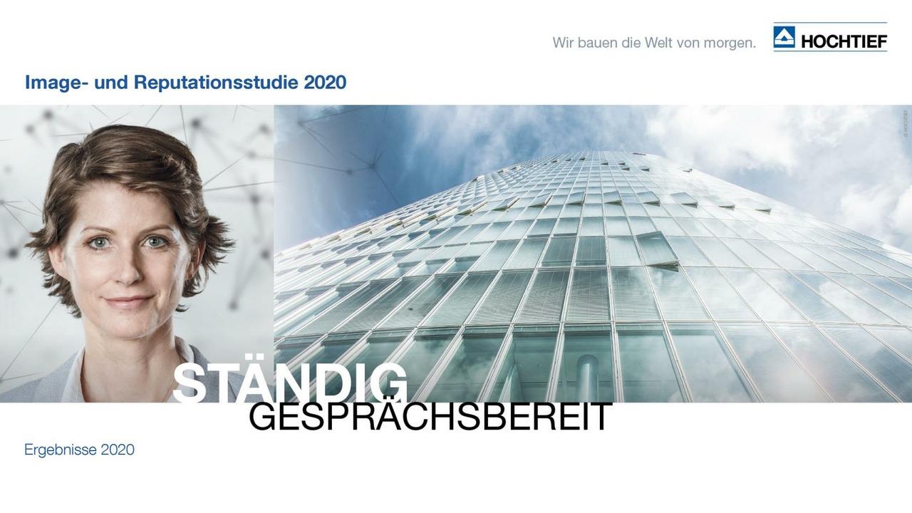 HOCHTIEF Image-und Reputationsstudie 2020