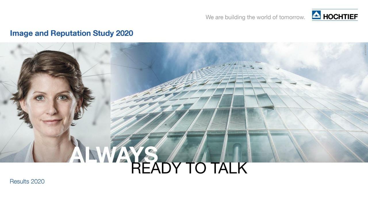 HOCHTIEF Image and Reputation Study 2020
